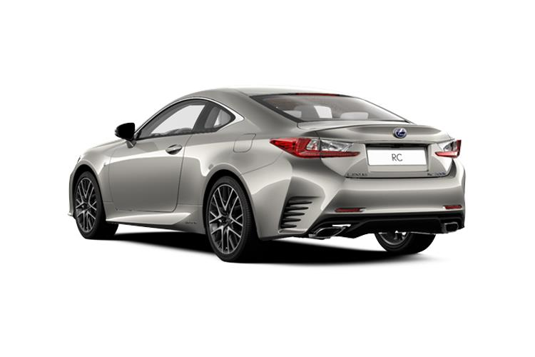 Lexus RC 300h Coupe 2.5 h 223PS F-Sport 2Dr E-CVT [Start Stop] [SRoof] back view